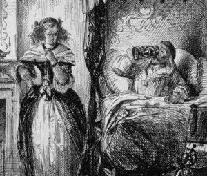 La condesa de Brinvillers envenenando a su padre, según un grabado de la época