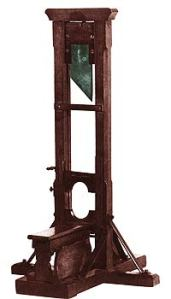 Uno de los últimos modelos de guillotina