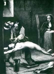 Madame Brinvilliers siendo torturada